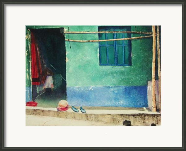 Two Shoes And A Melon Framed Print By Elizabeth Carr