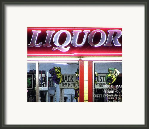 Two Sides Of Booze Framed Print By Joe Jake Pratt