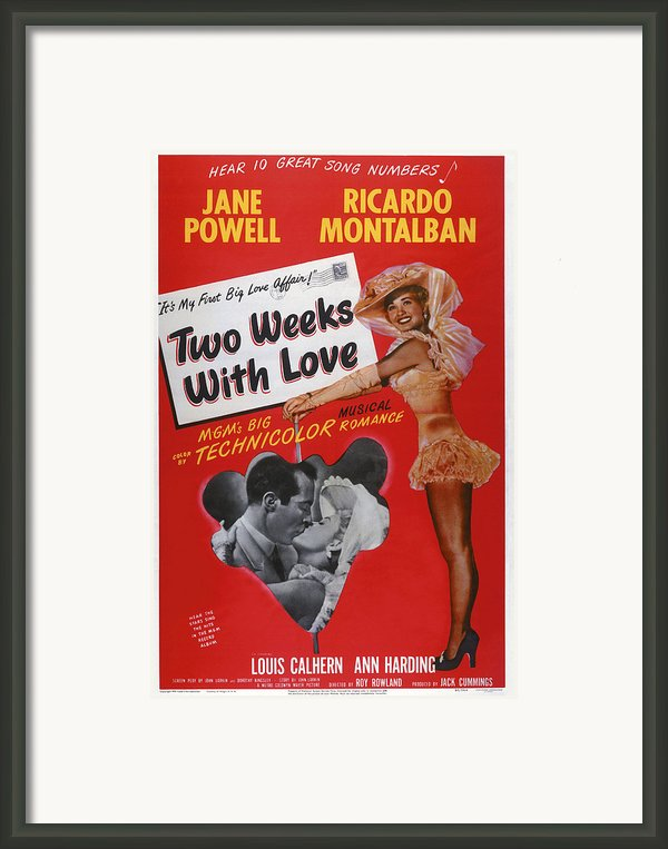 Two Weeks With Love, Insert Ricardo Framed Print By Everett