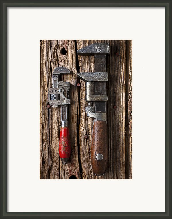 Two Wrenches Framed Print By Garry Gay