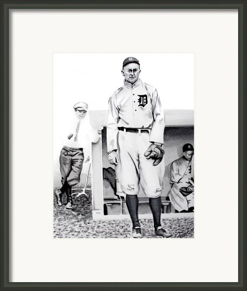 Ty Cobb Framed Print By Ferrel Cordle