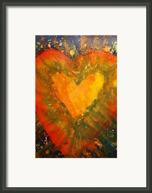 Tye Dye Heart Framed Print By James Briones