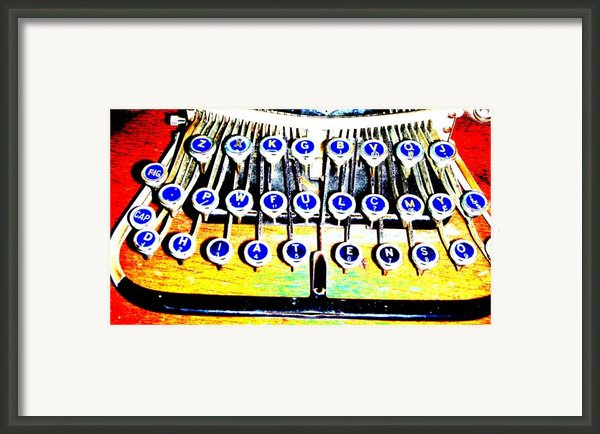 Typewriter Framed Print By Peter  Mcintosh