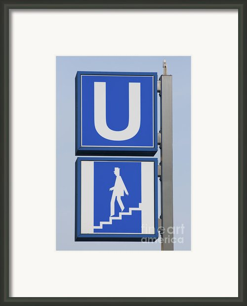 U-bahn Framed Print By Andrew  Michael