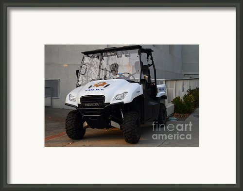 Uc Berkeley Campus Police Buggy  . 7d10184 Framed Print By Wingsdomain Art And Photography