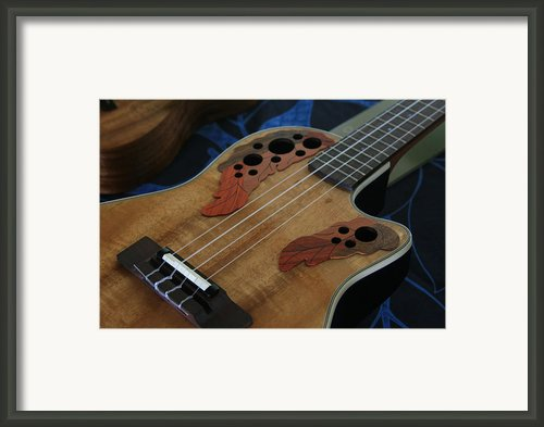 Ukulele Framed Print By Sharon Mau