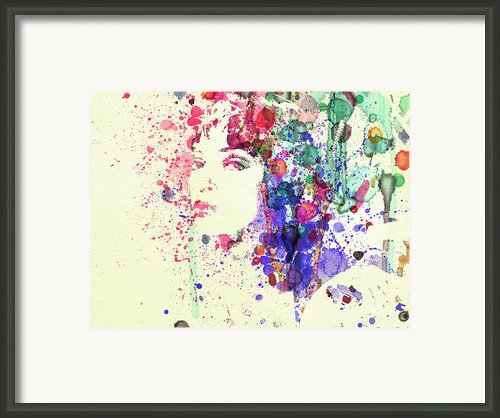 Uma Thurman Framed Print By Irina  March
