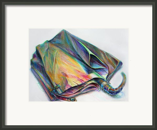 Umbrella Framed Print By Marie Jeon