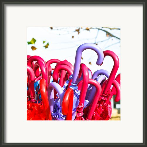 Umbrellas Framed Print By Tom Gowanlock
