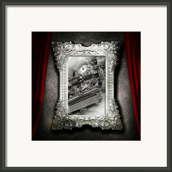 Umgx Vintage Antwerp Frame Print In Print Art Photo Framed Print By Umgx Vintage Studios