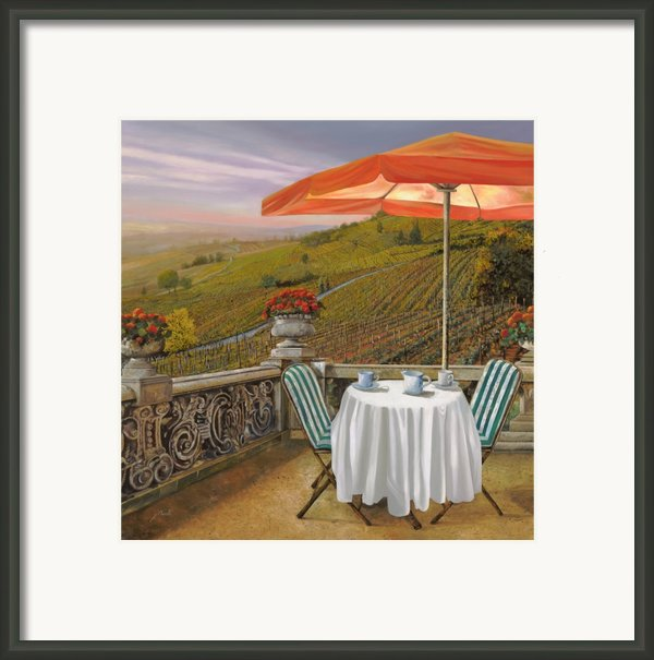 Un Caffe Framed Print By Guido Borelli