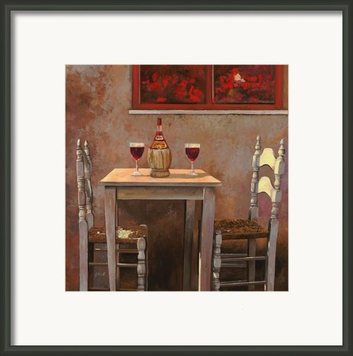 Un Fiasco Di Chianti Framed Print By Guido Borelli