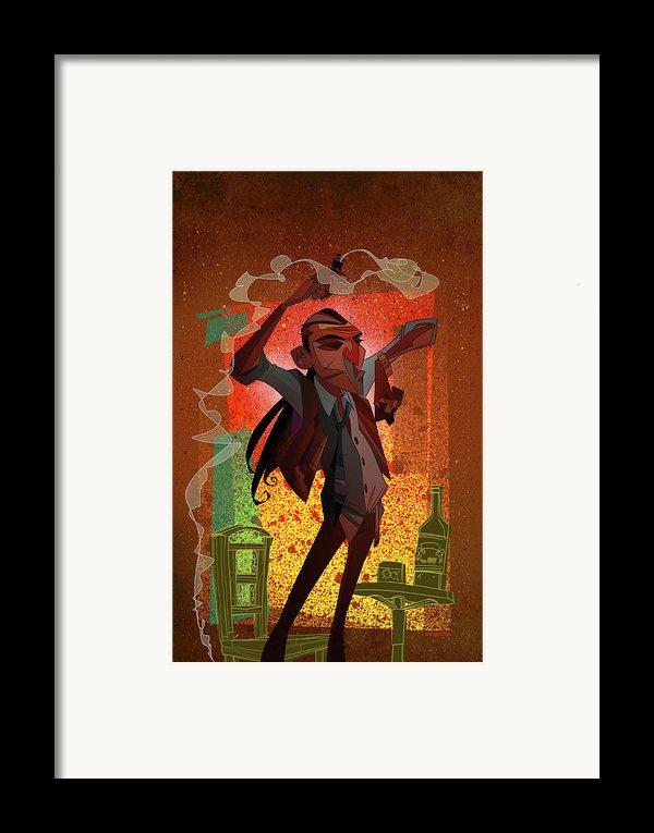 Un Hombre Framed Print By Nelson Dedos Garcia