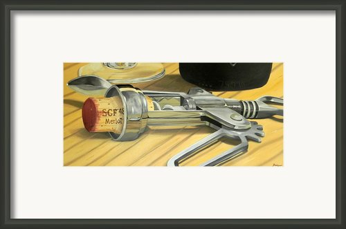 Uncork Framed Print By Brien Cole