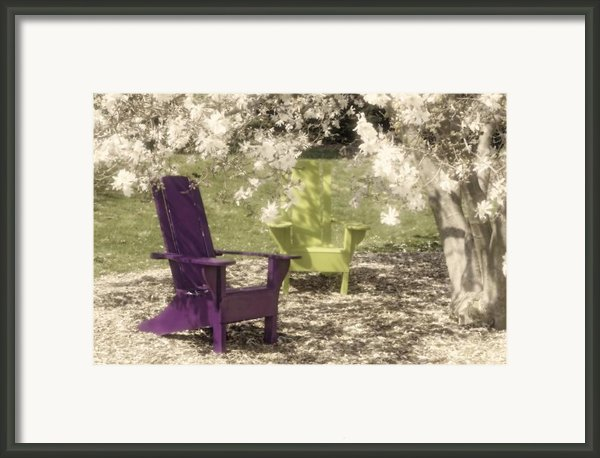 Under The Magnolia Tree Framed Print By Tom Mc Nemar