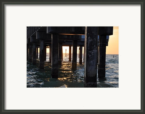 Under The Pier Framed Print By Bill Cannon