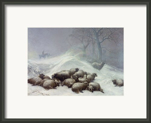 Under The Shelter Of The Shapeless Drift Framed Print By Thomas Sidney Cooper