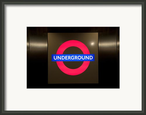 Underground Sign Framed Print By Svetlana Sewell
