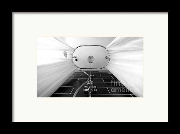 Underneath An Old Style Shower Framed Print By Simon Bratt Photography Lrps