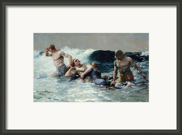 Undertow Framed Print By Winslow Homer