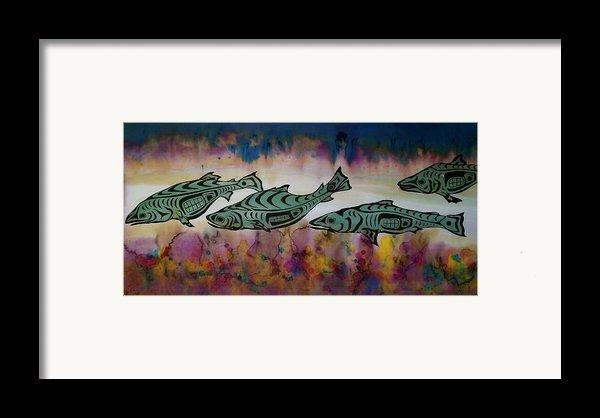 Underwater Color Framed Print By Carolyn Doe