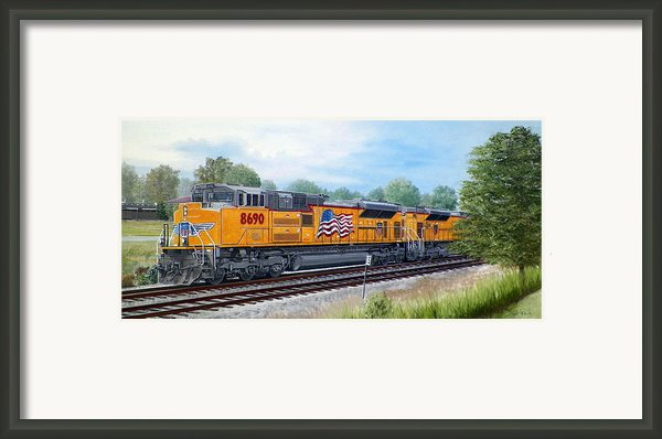Union Pacific 8690 Framed Print By Rb Mcgrath