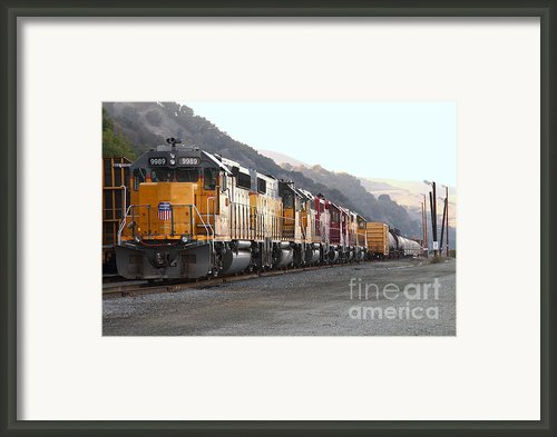Union Pacific Locomotive Trains . 7d10563 Framed Print By Wingsdomain Art And Photography