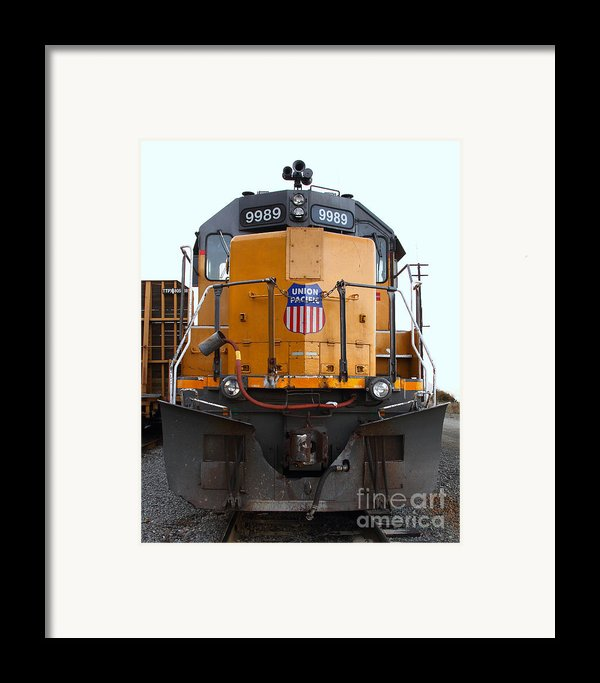 Union Pacific Locomotive Trains . 7d10589 Framed Print By Wingsdomain Art And Photography