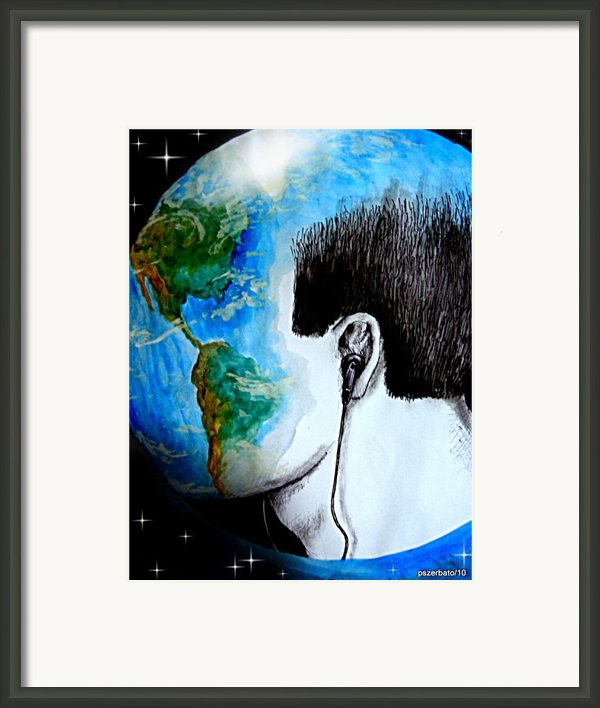 Unique Way To Hear The Sounds Of Nature Framed Print By Paulo Zerbato