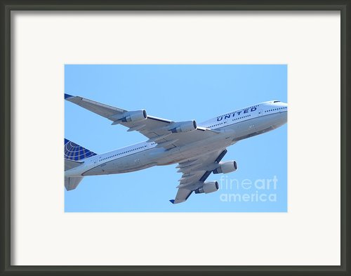 United Airlines Boeing 747 . 7d7838 Framed Print By Wingsdomain Art And Photography