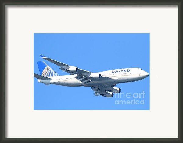 United Airlines Boeing 747 . 7d7852 Framed Print By Wingsdomain Art And Photography