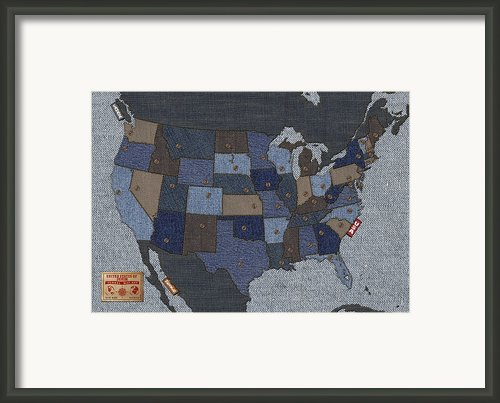 United States Of Denim Framed Print By Michael Tompsett