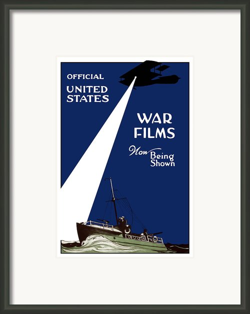 United States War Films Now Being Shown Framed Print By War Is Hell Store