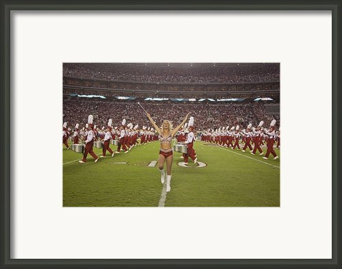 University Of Alabamas Marching Band Framed Print By Everett