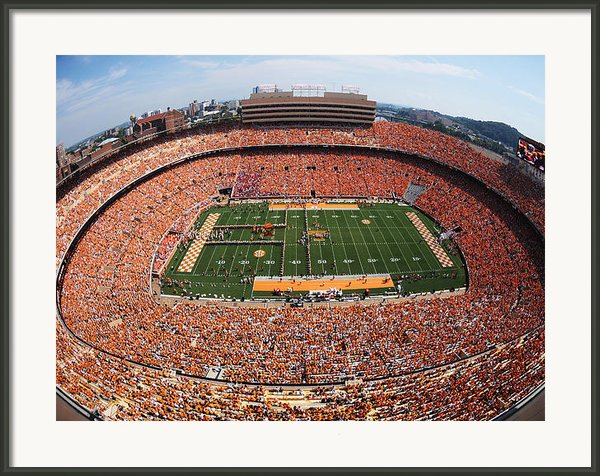 University Of Tennessee Neyland Stadium Framed Print By University Of Tennessee Athletics