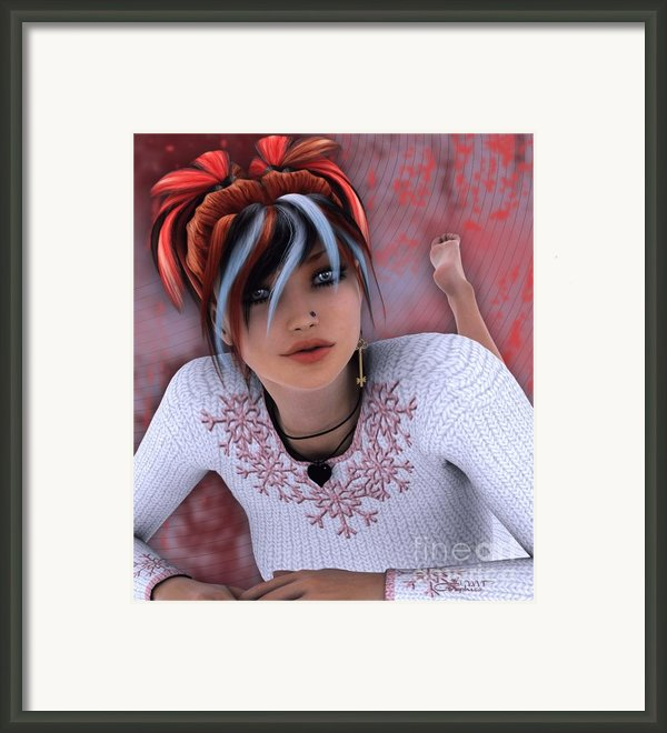Unlock My Heart Framed Print By Jutta Maria Pusl