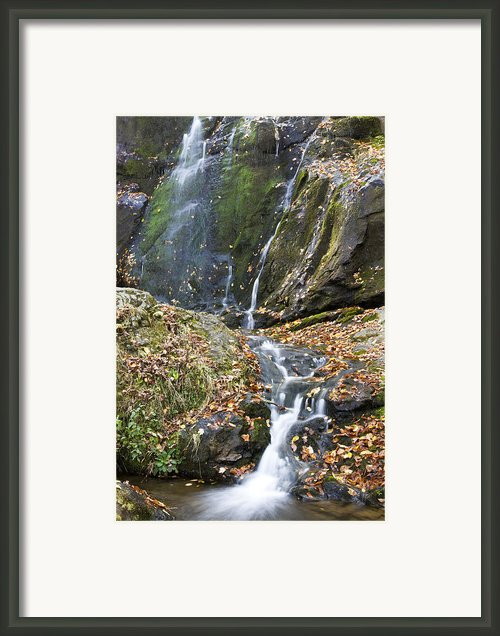 Upper Dark Hollow Falls In Shenandoah National Park Framed Print By Pierre Leclerc