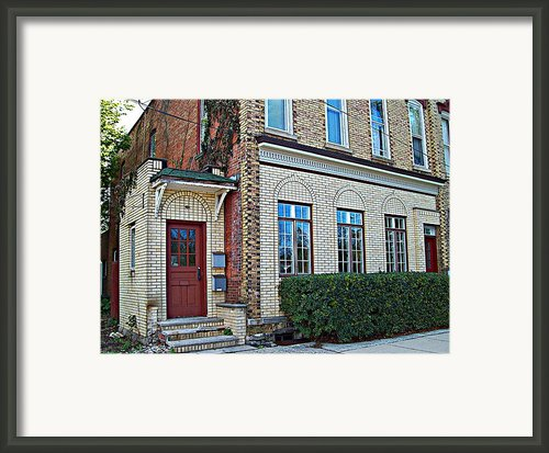 Upstairs - Downstairs Framed Print By Mj Olsen