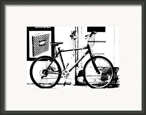 Urban Bicycle Shilhoutte Framed Print By Artyzen Studios