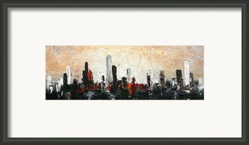 Urban Poetry Framed Print By Vital Germaine