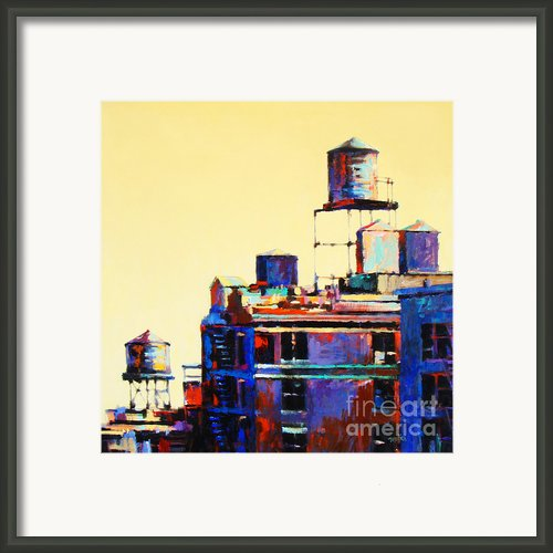 Urban Rooftops Framed Print By Patti Mollica