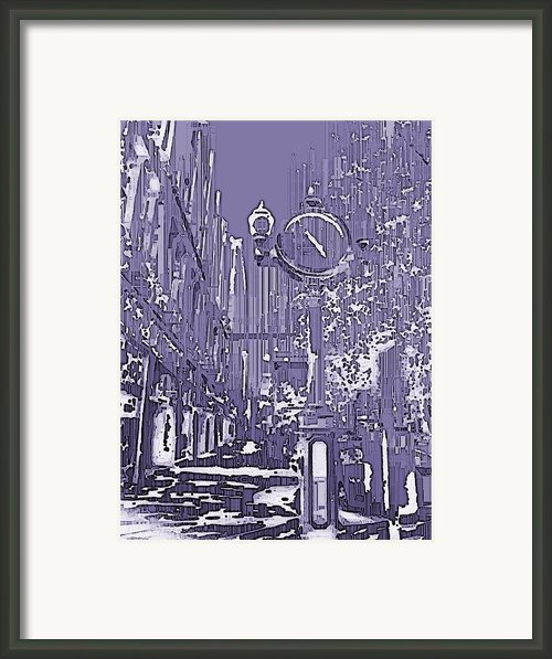 Urban Timepiece Framed Print By Tim Allen