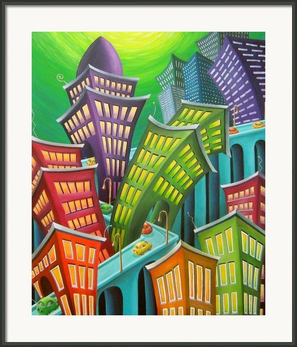 Urban Vertigo Framed Print By Eva Folks