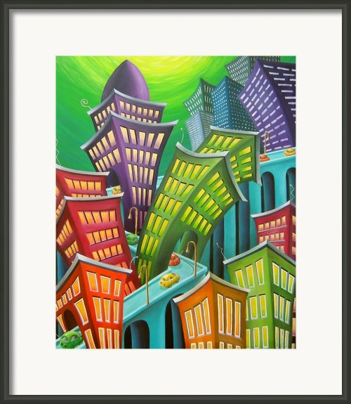 Urban Vertigo Framed Print By Eva Folks