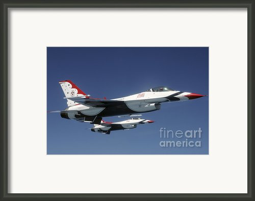 U.s. Air Force F-16 Thunderbirds Framed Print By Stocktrek Images