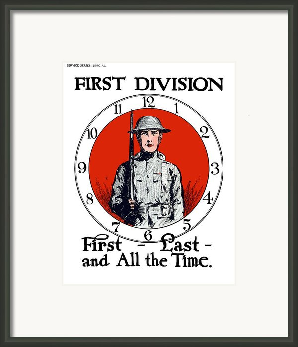 Us Army First Division Framed Print By War Is Hell Store