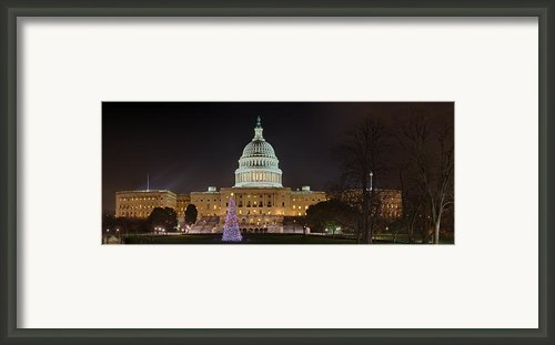 U.s. Capitol Christmas Tree 2009 Framed Print By Metro Dc Photography
