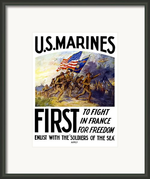 Us Marines First To Fight In France Framed Print By War Is Hell Store