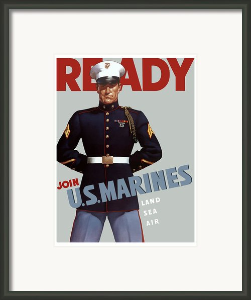 Us Marines Ready Framed Print By War Is Hell Store