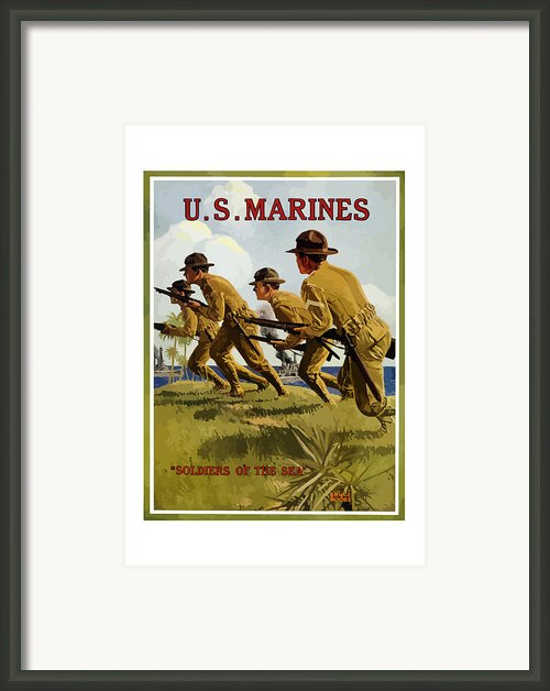 Us Marines Soldiers Of The Sea Framed Print By War Is Hell Store